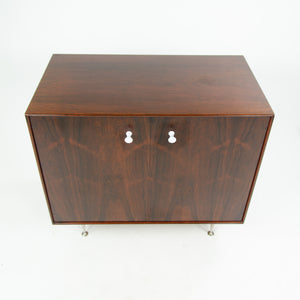 SOLD 1950s George Nelson Herman Miller Thin Edge Rosewood Dresser Cabinet Original