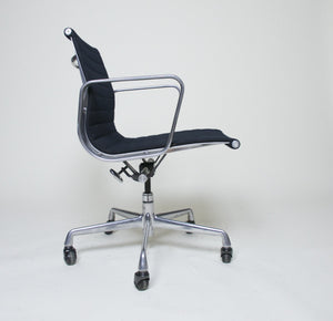 SOLD Herman Miller Eames Aluminum Group Executive Chair in Black, 4 Available, Mint