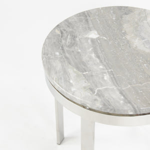 Nicos Zographos Designs Limited Marble Stainless Side Table