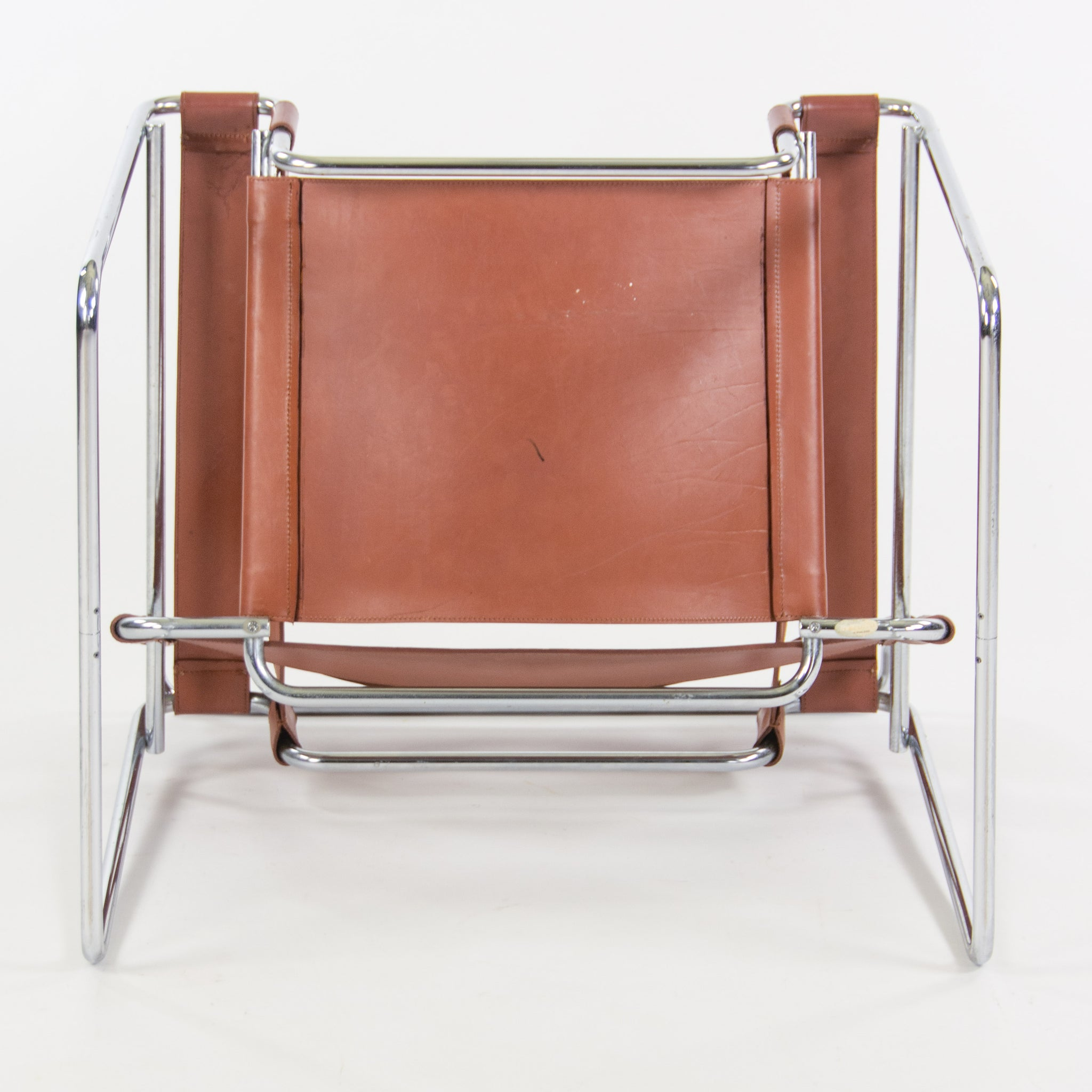 Early Gavina Knoll Stendig Marcel Breuer Wassily Chair B3 Brown Leather Marked