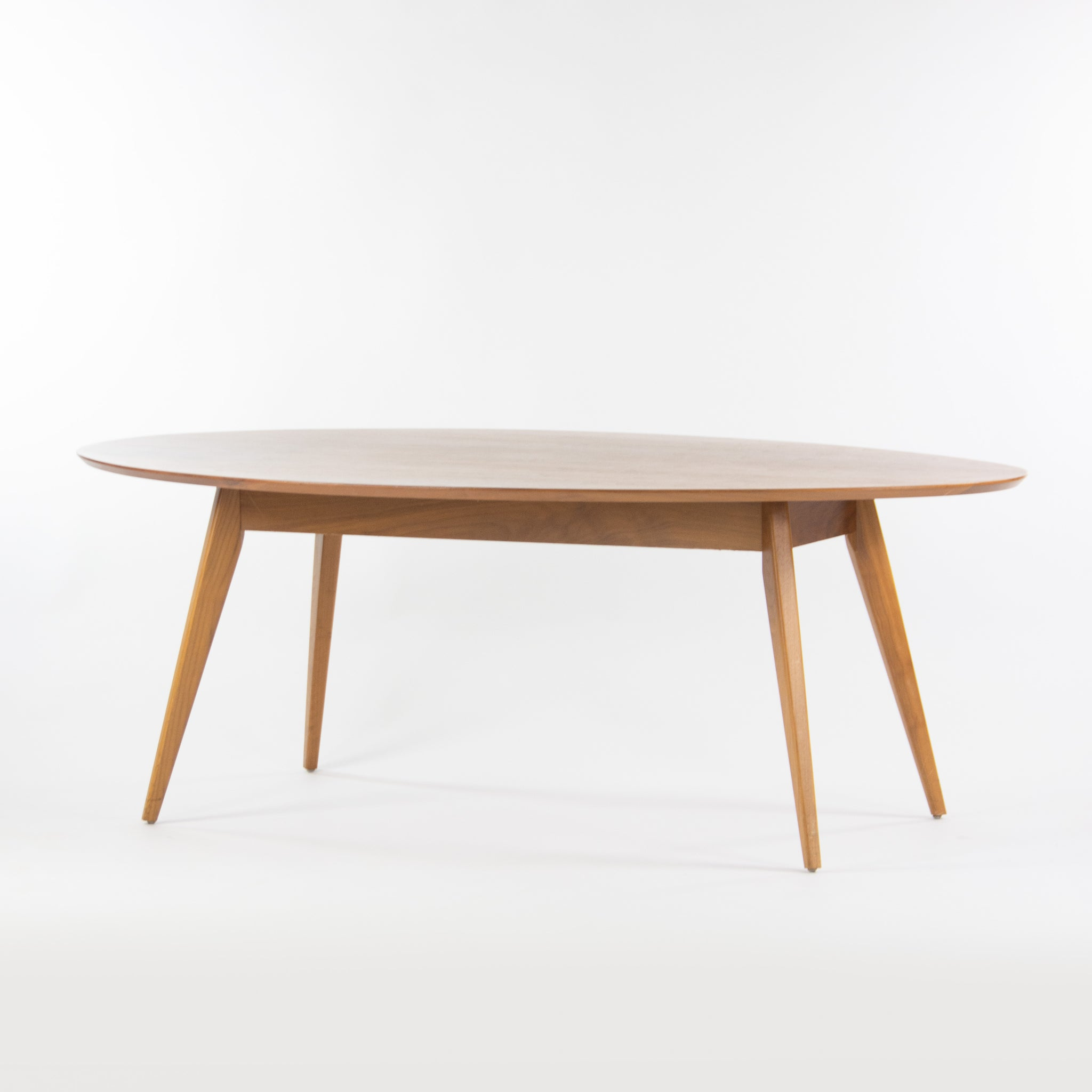 Custom Jens Risom Knoll 78 in Oval Walnut Dining Conference Table