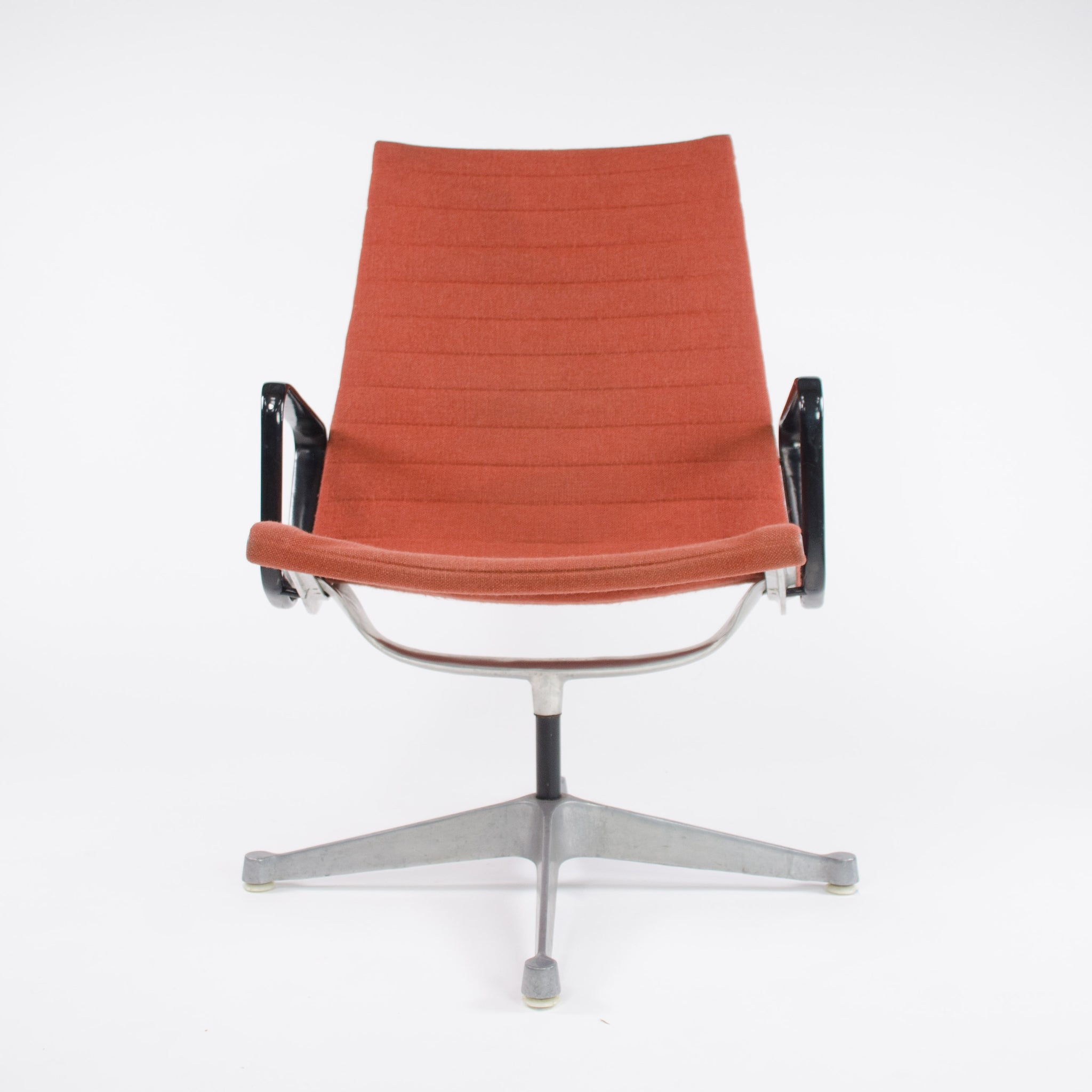 SOLD 2x Museum Quality Eames Herman Miller Aluminum Group Lounge Chairs, Fabric, MINT