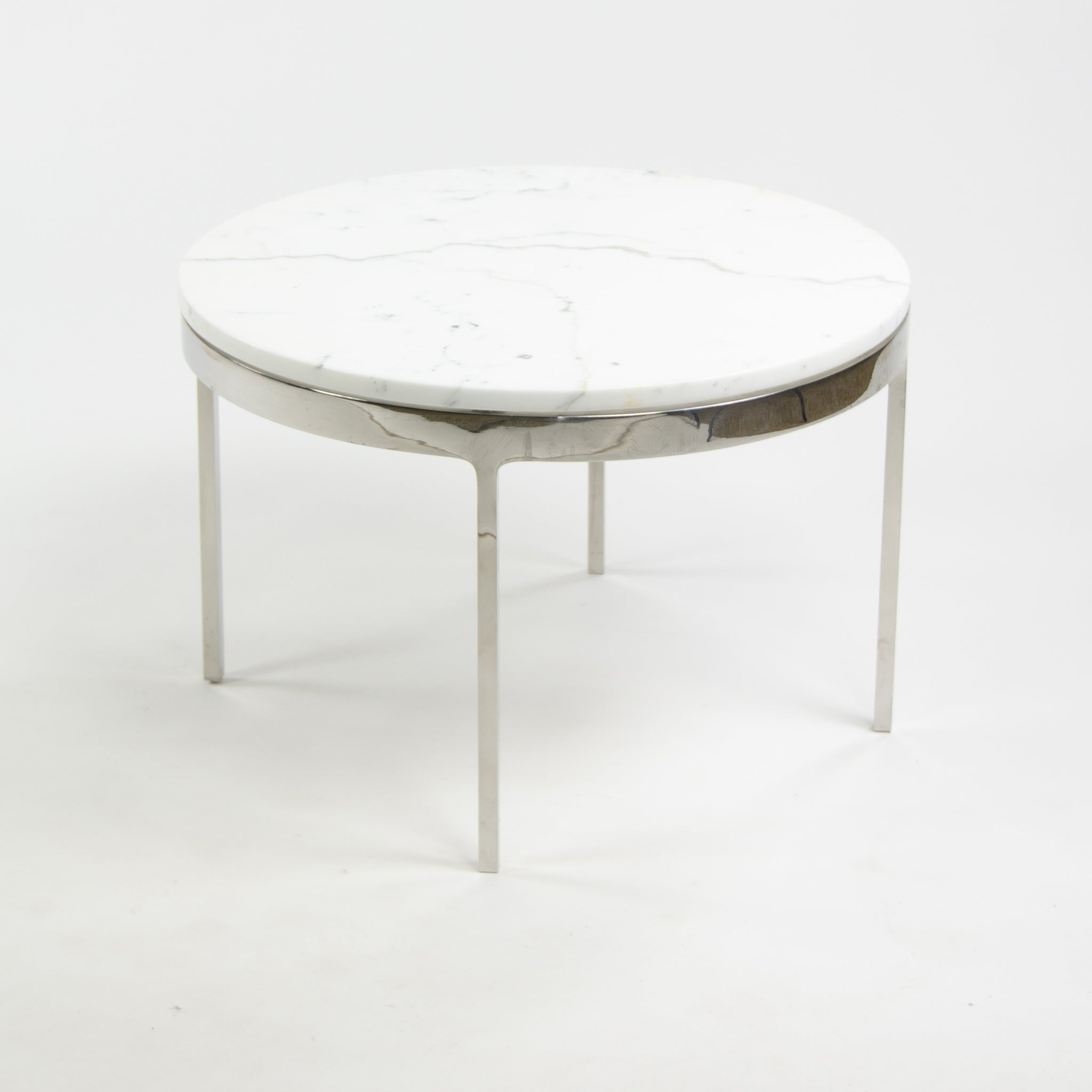 SOLD Nicos Zographos Designs Limited Stainless Cocktail End Table