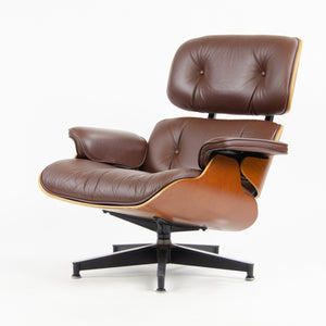 SOLD 2008 Herman Miller Eames Lounge Chair & Ottoman Cherry 670 671 Brown Leather