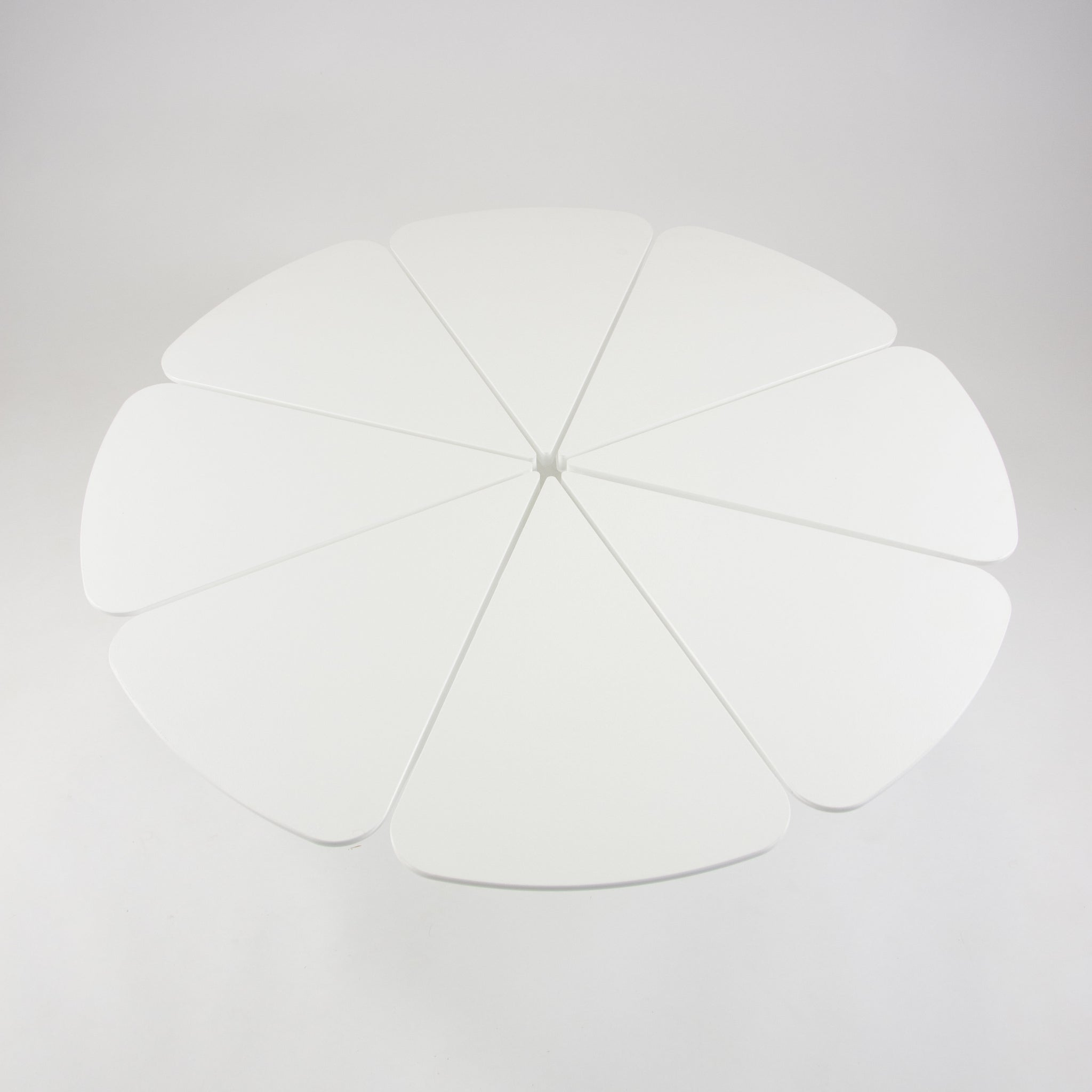 SOLD Richard Schultz Knoll Petal Coffee Table White High Density Polyurethane