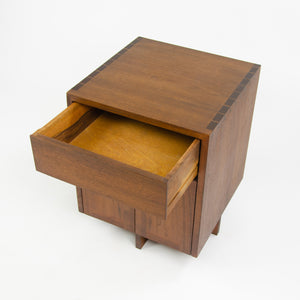 1970's George Nakashima Original Early Kornblut Case Walnut Bedside Cabinet