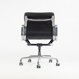 SOLD NEW Old Stock Eames Herman Miller Low Soft Pad Aluminum Desk Chair Black Leather