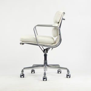SOLD Eames Herman Miller Low Soft Pad Aluminum Desk Chair White Leather