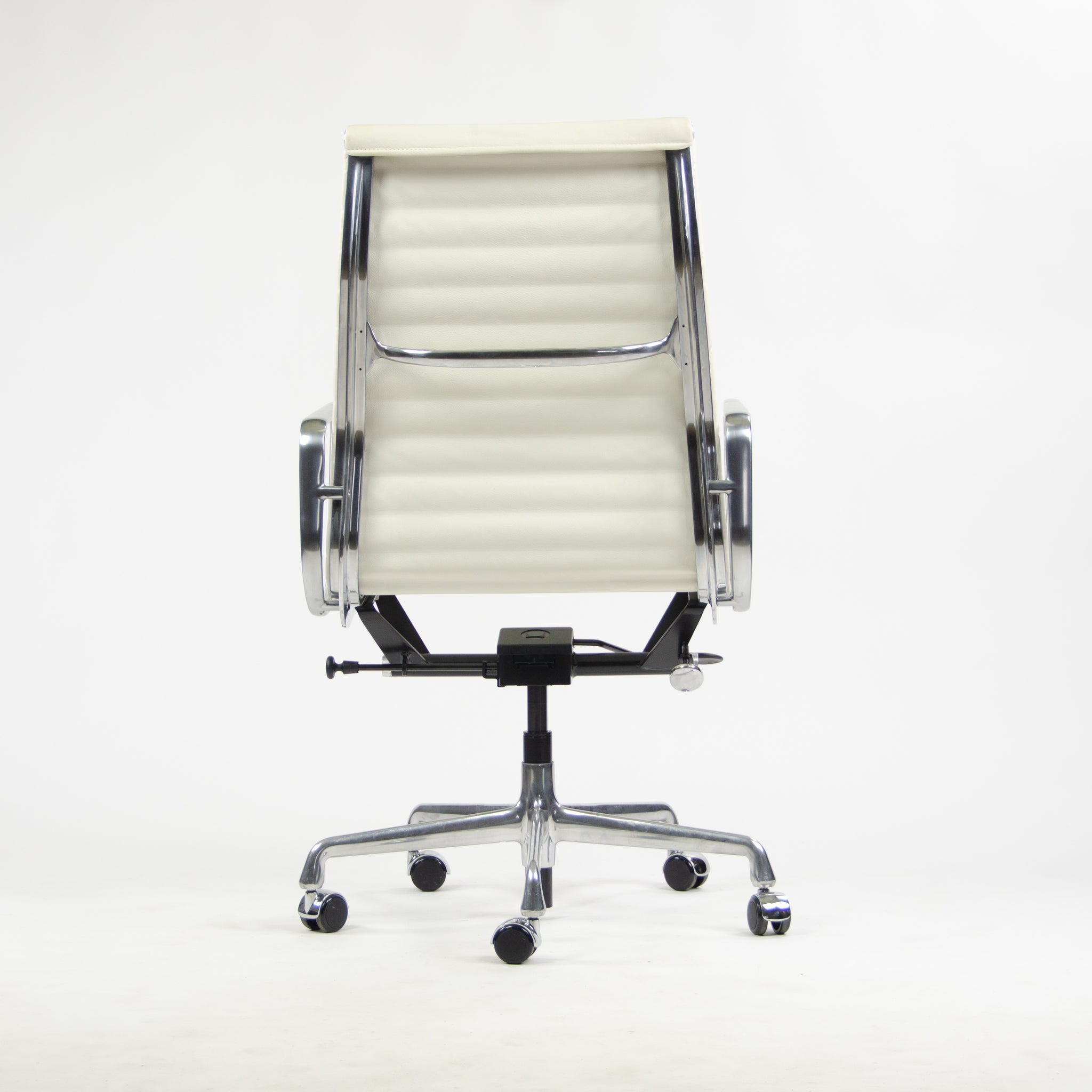 SOLD NEW 2013 Eames Herman Miller Leather High Aluminum Group Desk Chair White