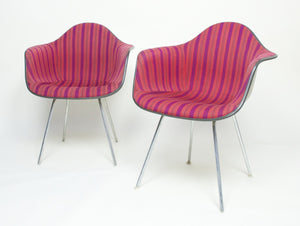 SOLD 1960's Alexander Girard Miller Stripe Eames Herman Miller Chairs, Extremely Rare