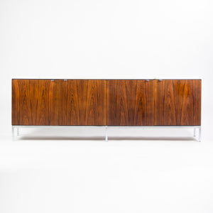 1960's Vintage Florence Knoll Rosewood and Marble Credenza Cabinet Sideboard