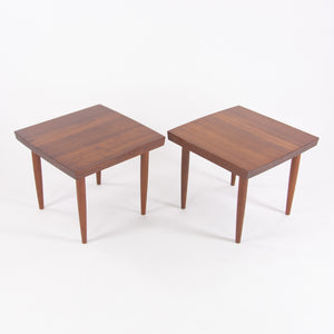 1959 Vintage George Nakashima Studio Teak End Side Tables Stools with Provenance