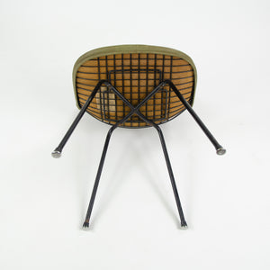 1954 Herman Miller Eames Wire Shell Chair Green X Base DKX-1 All Original Venice Label