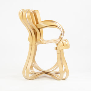SOLD 2001 Frank Gehry for Knoll Cross Check Arm Chairs Maple Pair
