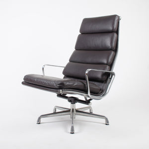 SOLD Herman Miller Eames High Soft Pad Aluminum Group Lounge Chair Brown Leather