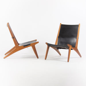 1954 Pair of Uno & Östen Kristiansson Hunting Chairs for Luxus Sweden