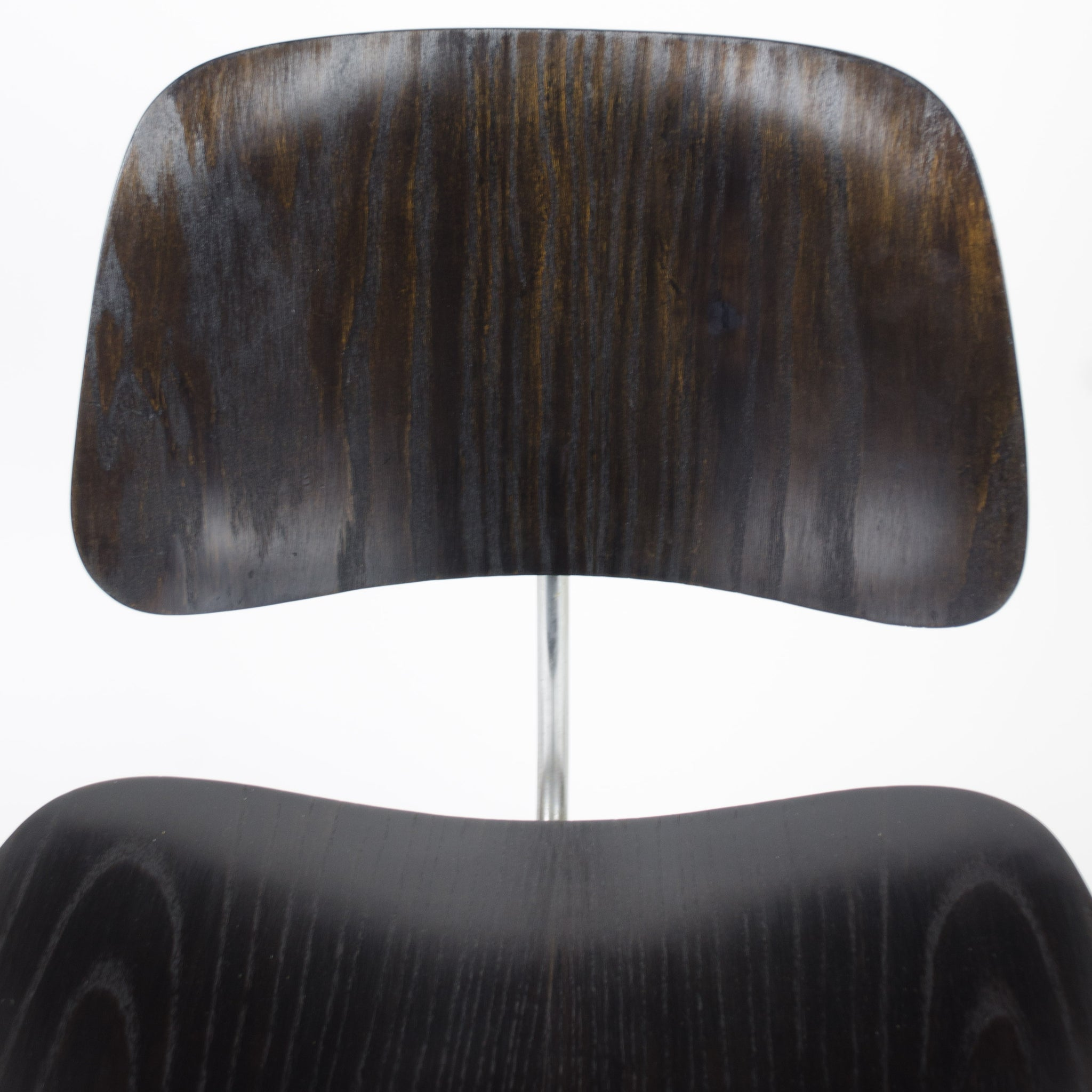 SOLD Eames Evans Herman Miller 1946 DCM Dining Chairs Black Aniline Dye Set of 4 RARE