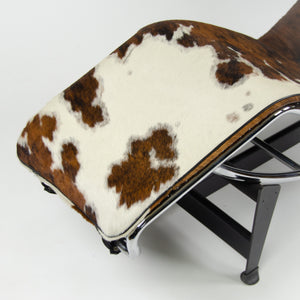 SOLD Le Corbusier Cassina LC4 Chaise Lounge Chair Cow Pony Hide Leather