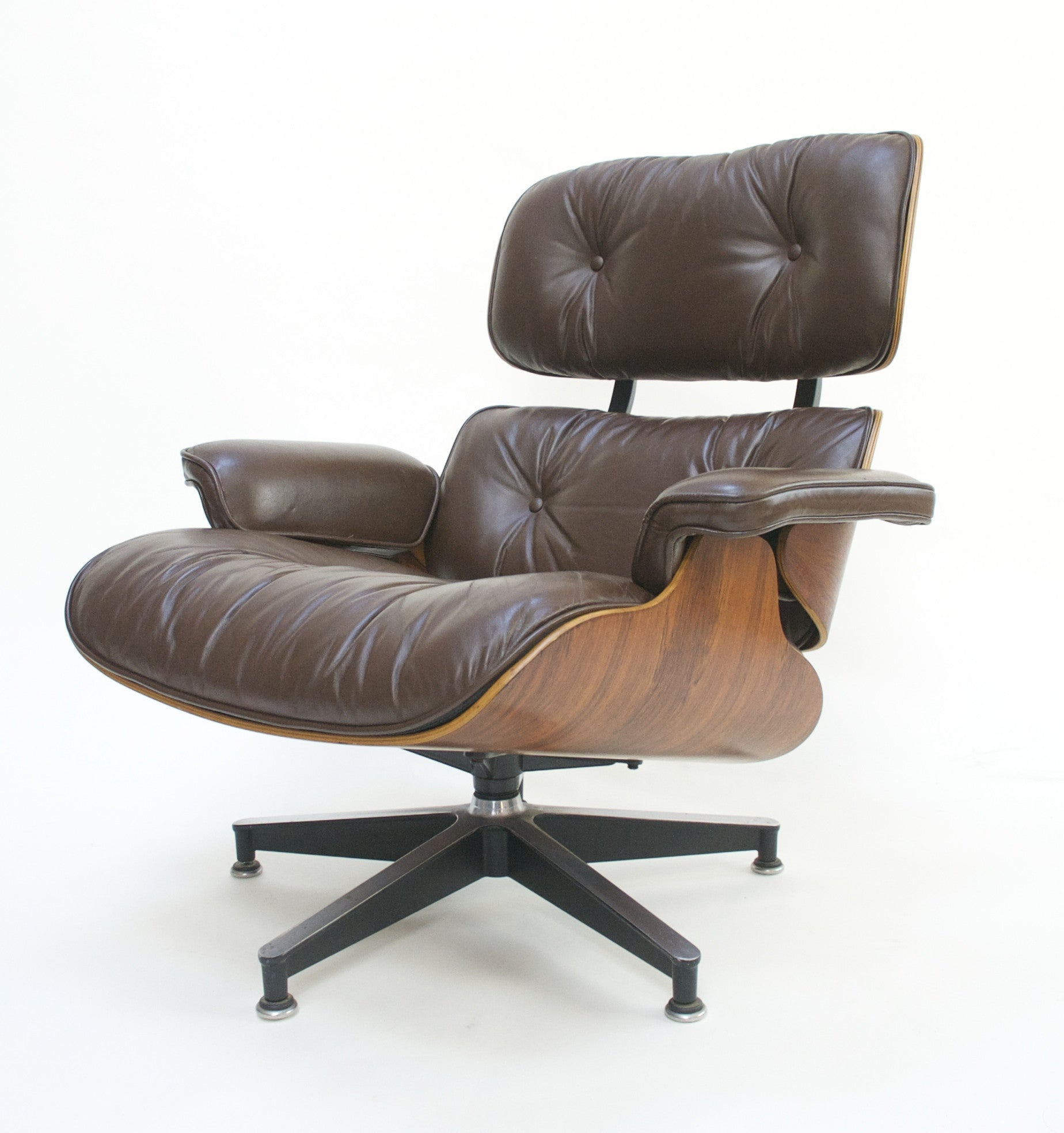 SOLD 1970's Herman Miller Eames Lounge Chair & Ottoman Rosewood 670 671 Brown