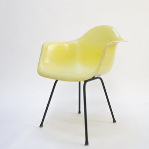 SOLD Herman Miller Eames Yellow Fiberglass Shell Chair Arm Shell