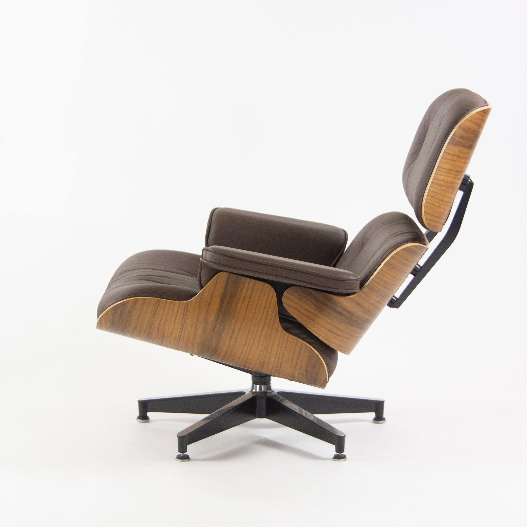 SOLD Herman Miller 2019 Brand New Eames Lounge Chair and Ottoman Walnut Brown Leather