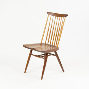 SOLD 1960's George Nakashima Studio New Chair Walnut w Hickory Spindles Early Vintage Piece