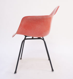 SOLD 1954 Red Eames Herman Miller Fiberglass Arm Shell Chair Early Mid  Century