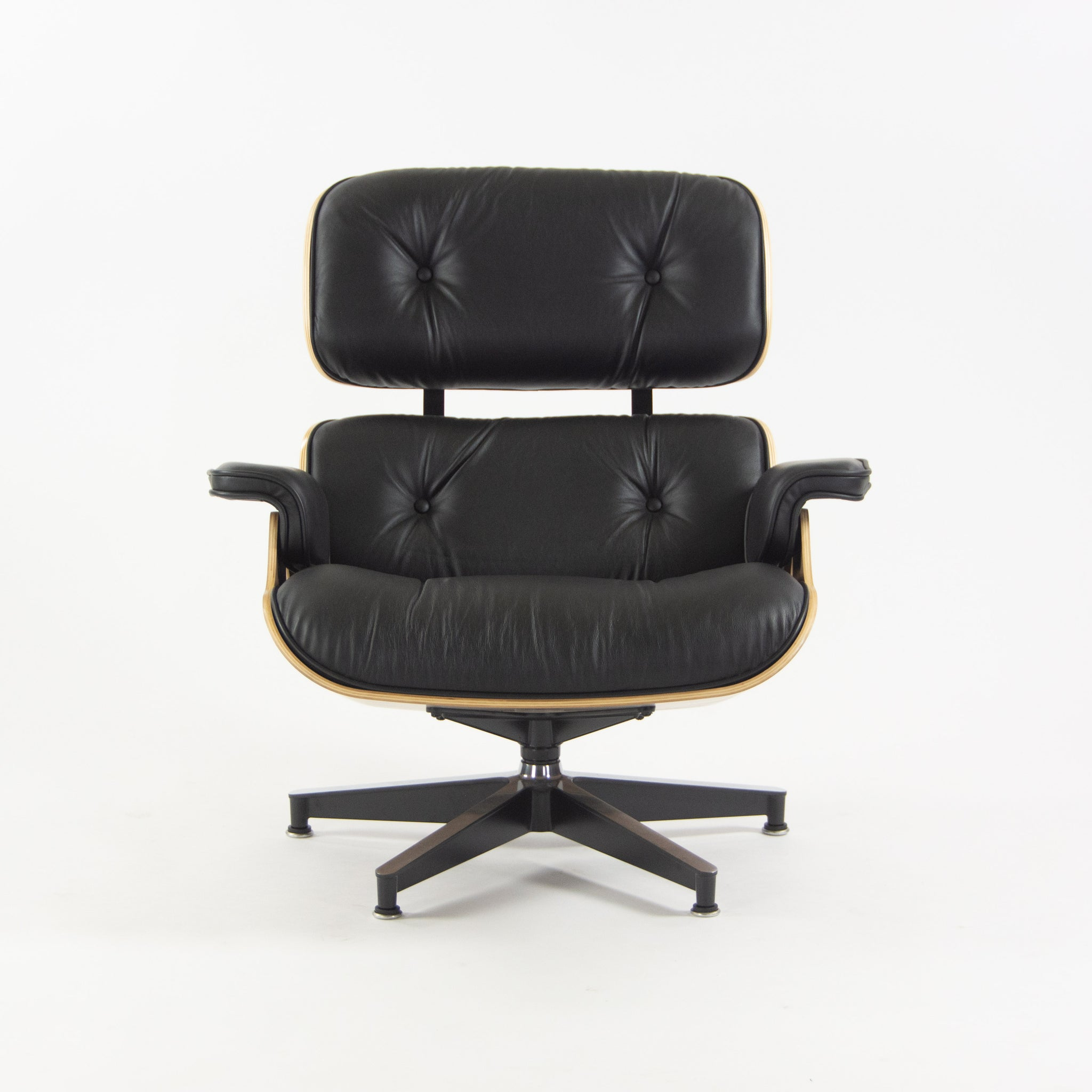 Herman Miller 2019 Brand New Eames Lounge Chair and Ottoman Walnut Black Leather