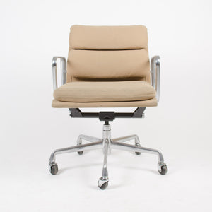 Herman Miller Eames Soft Pad Aluminum Group Desk Chair Tan Hopsack Late 90's