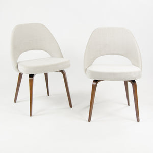 SOLD 2018 Knoll Studio Saarinen Armless Executive Chairs w Wood Legs Walnut