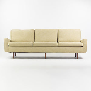 1950's Florence Knoll Associates Museum Quality Original Fabric Three Seat Sofa