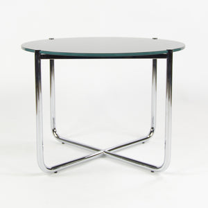 Knoll Mies Van Der Rohe MR Side End Table Glass Polished Steel NEW