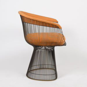 SOLD Knoll Warren Platner Lounge Dining Arm Chair Mid Century Bronze