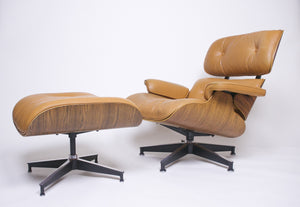 SOLD Herman Miller Eames Lounge Chair & Ottoman Rosewood 670 671 1970's