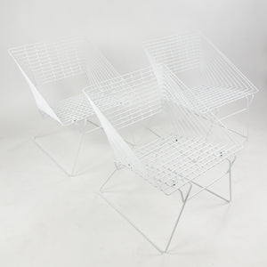 SOLD 1970's Verner Panton Fritz Hansen Outdoor Lounge Chairs Restored Set of 3