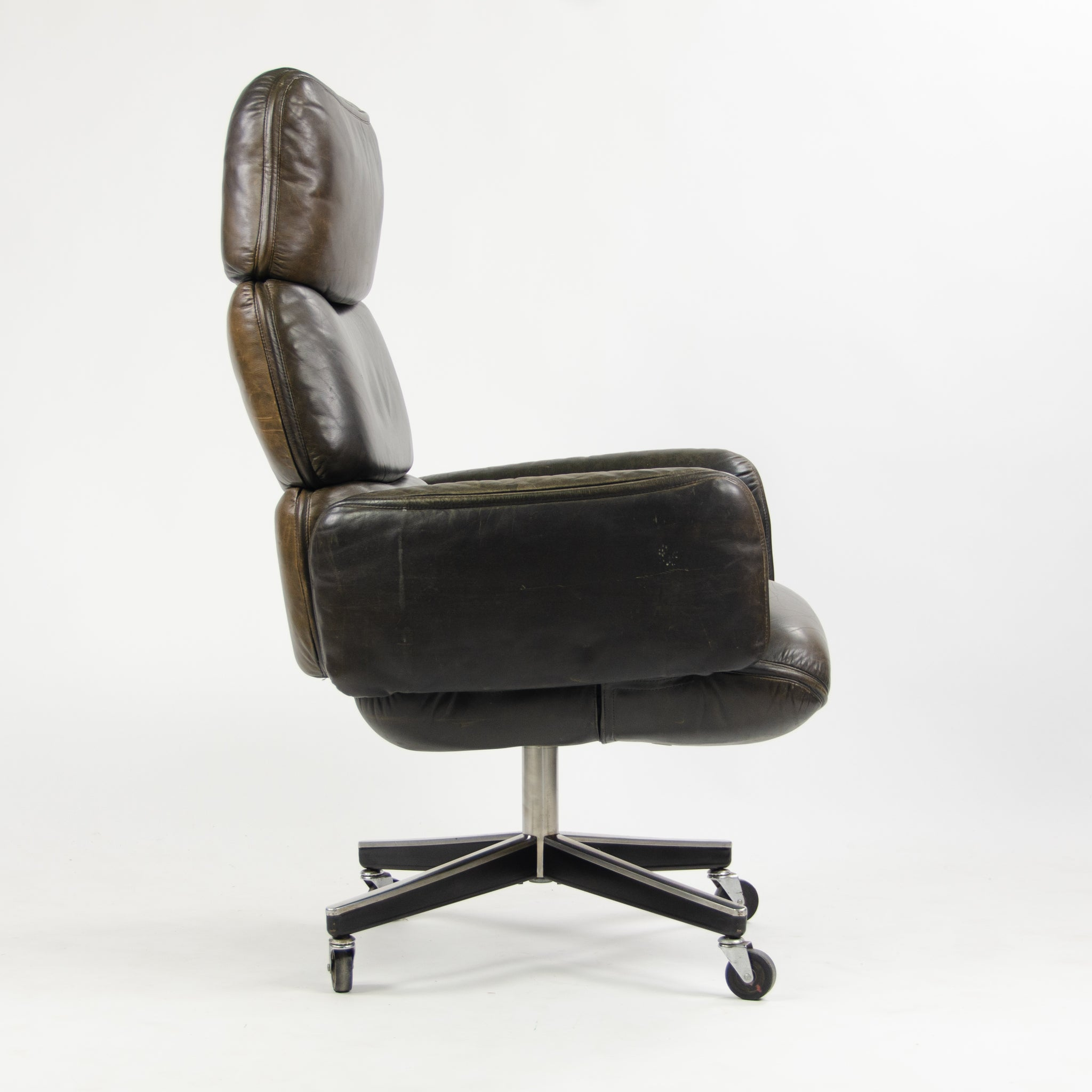 SOLD 1970's Otto Zapf for Knoll High Back Office Desk Chair