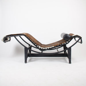SOLD Le Corbusier Cassina LC4 Chaise Lounge Chair Leather Cowhide
