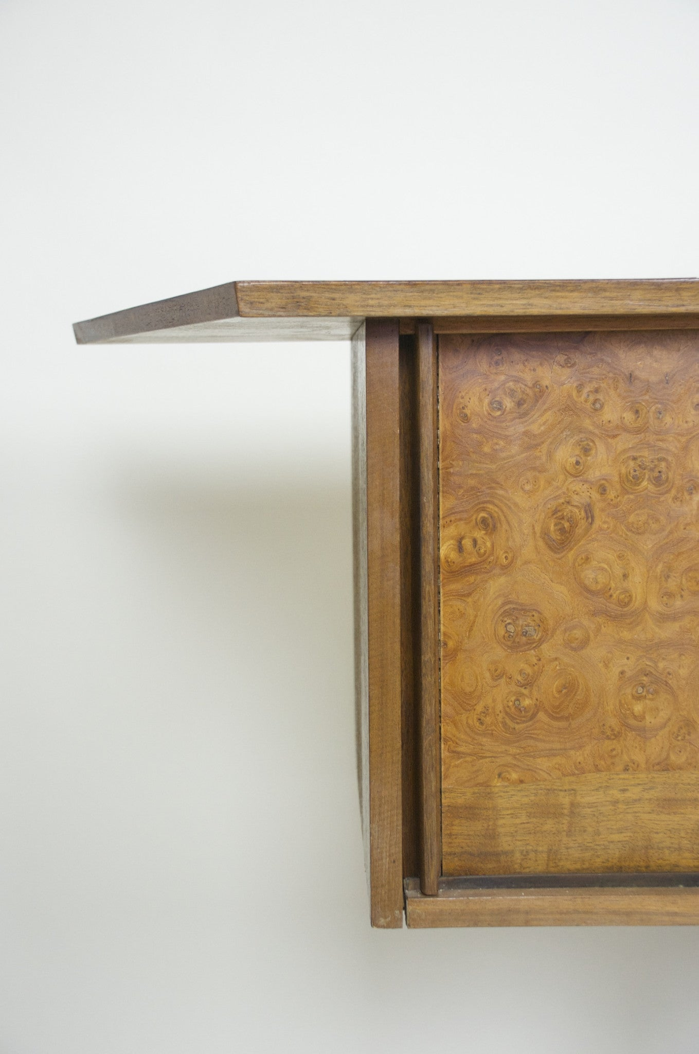 SOLD George Nakashima for Widdicomb Sundra Hanging Burl Wall Cabinet