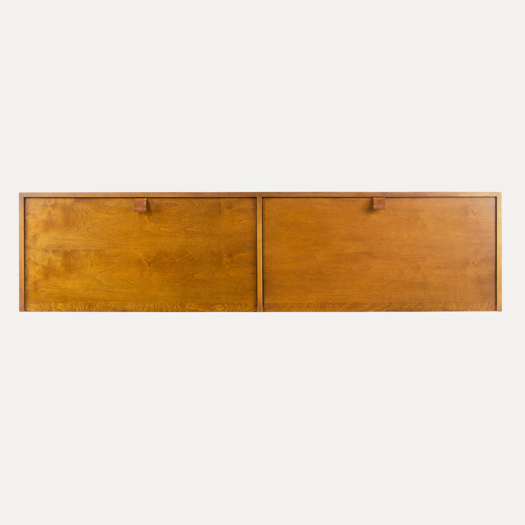 1950's Vintage Florence Knoll Associates Wall Cabinet Hanging Sideboard Birch