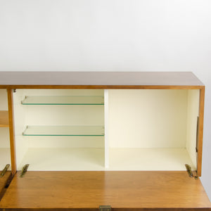 SOLD 1950's Vintage Florence Knoll Associates Wall Cabinet Hanging Sideboard Birch