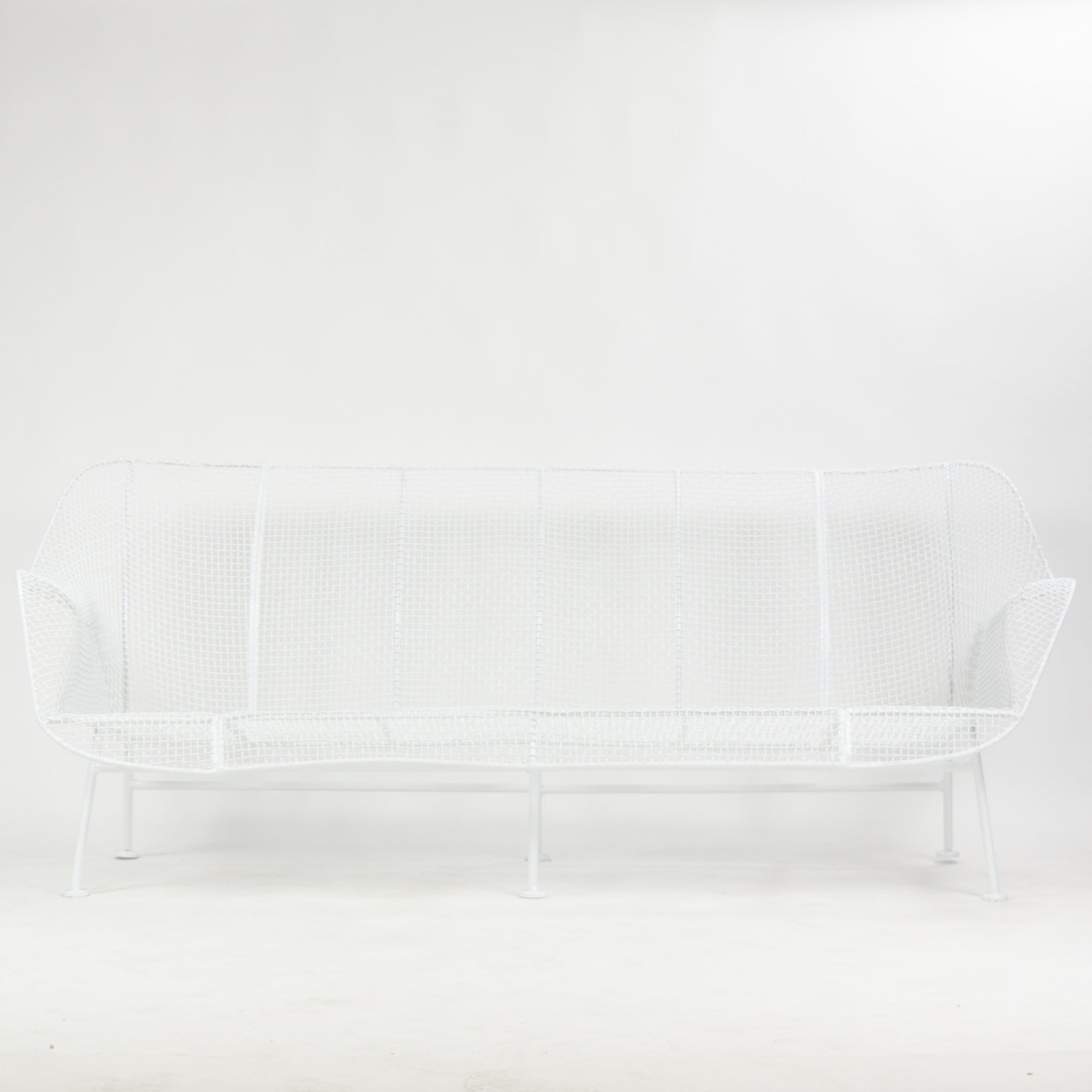 SOLD Russell Woodard Sculptura Outdoor Sofa New Powder Coated Finish Vintage