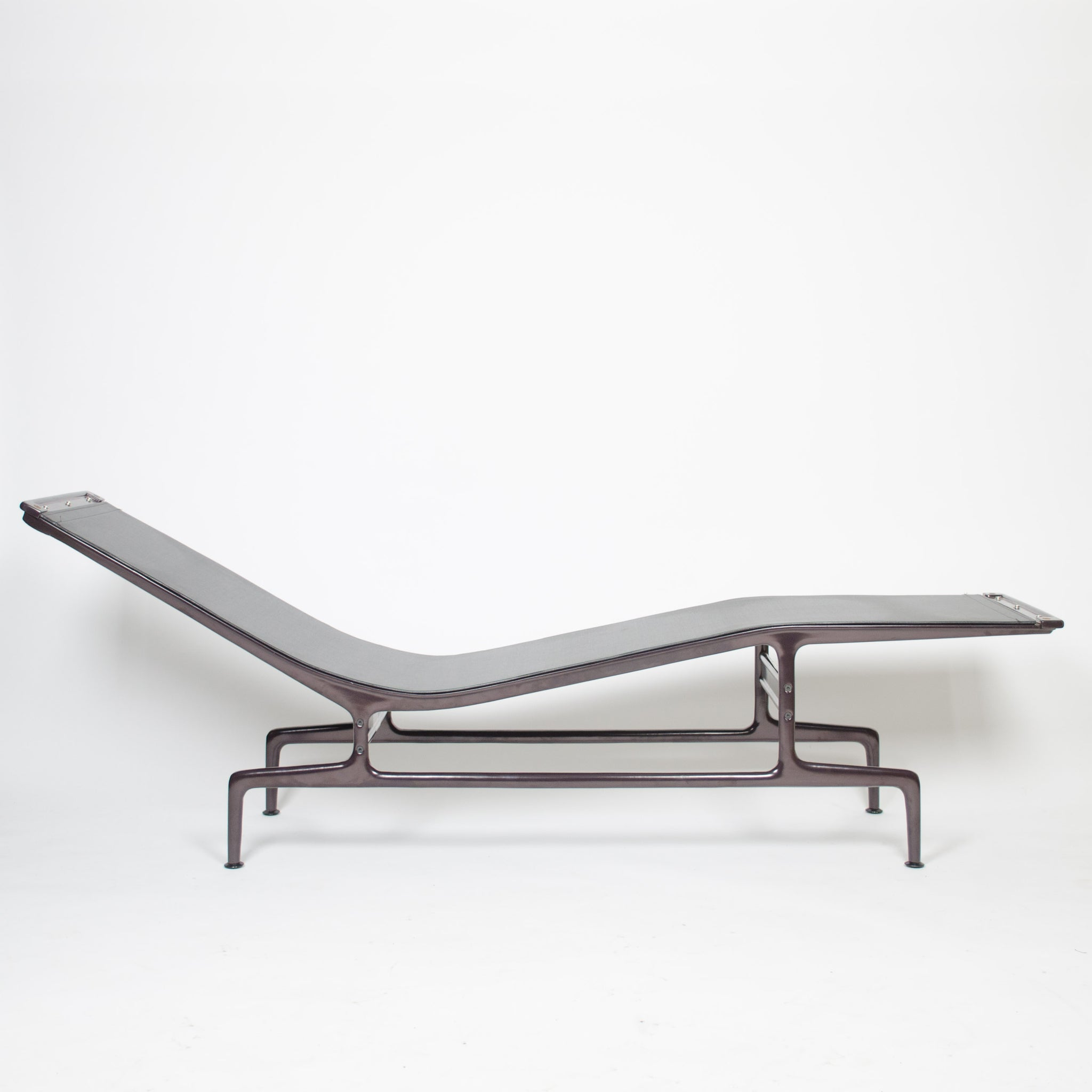 SOLD Eames Herman Miller Billy Wilder Gray and Eggplant Chaise Lounge Chair MINT