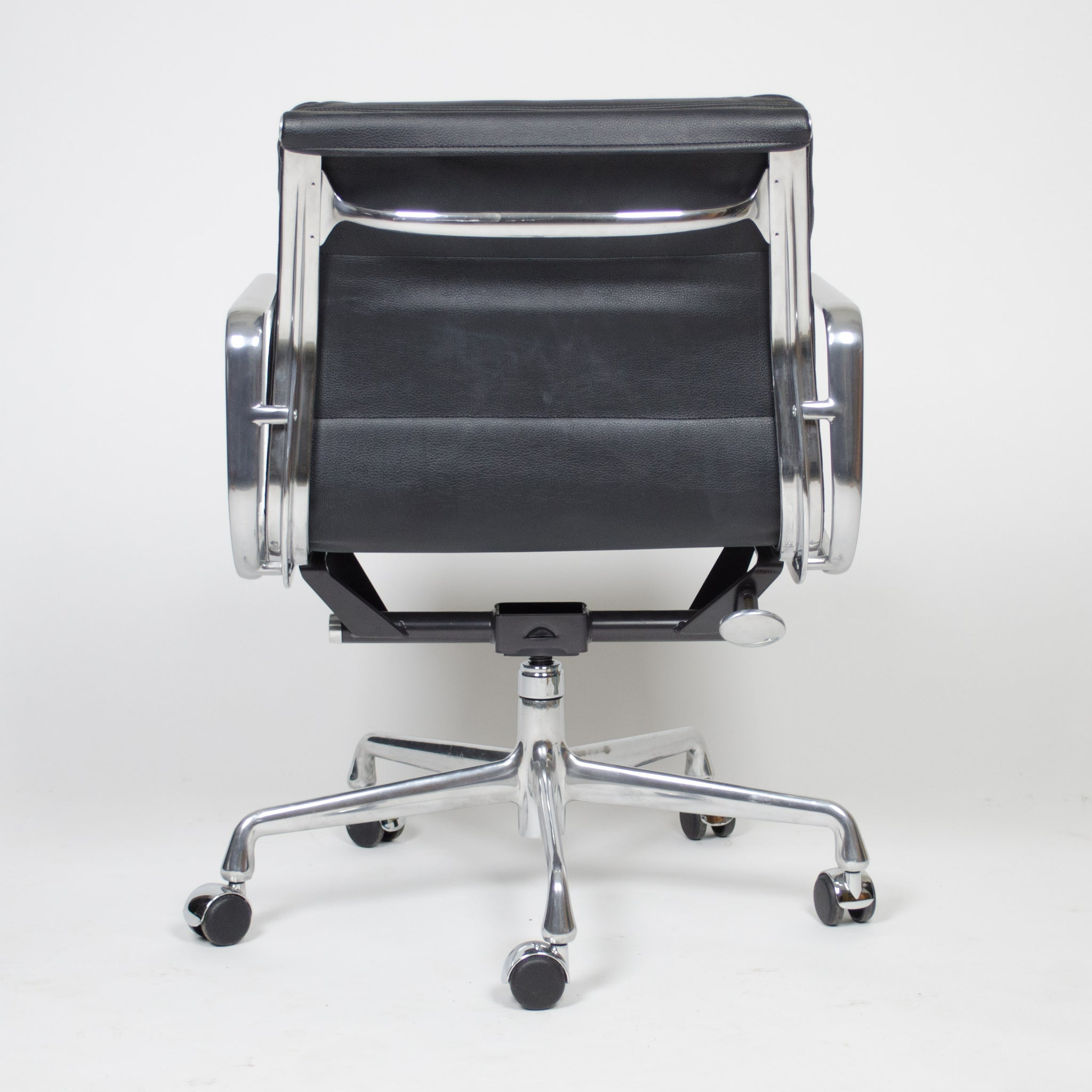 SOLD Eames Herman Miller Soft Pad Aluminum Group Chair Black Leather 4+ Avail MINT!