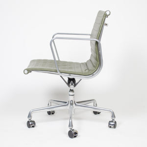 SOLD 2009 Green Leather Eames Herman Miller Low Aluminum Group Executive Desk Chair