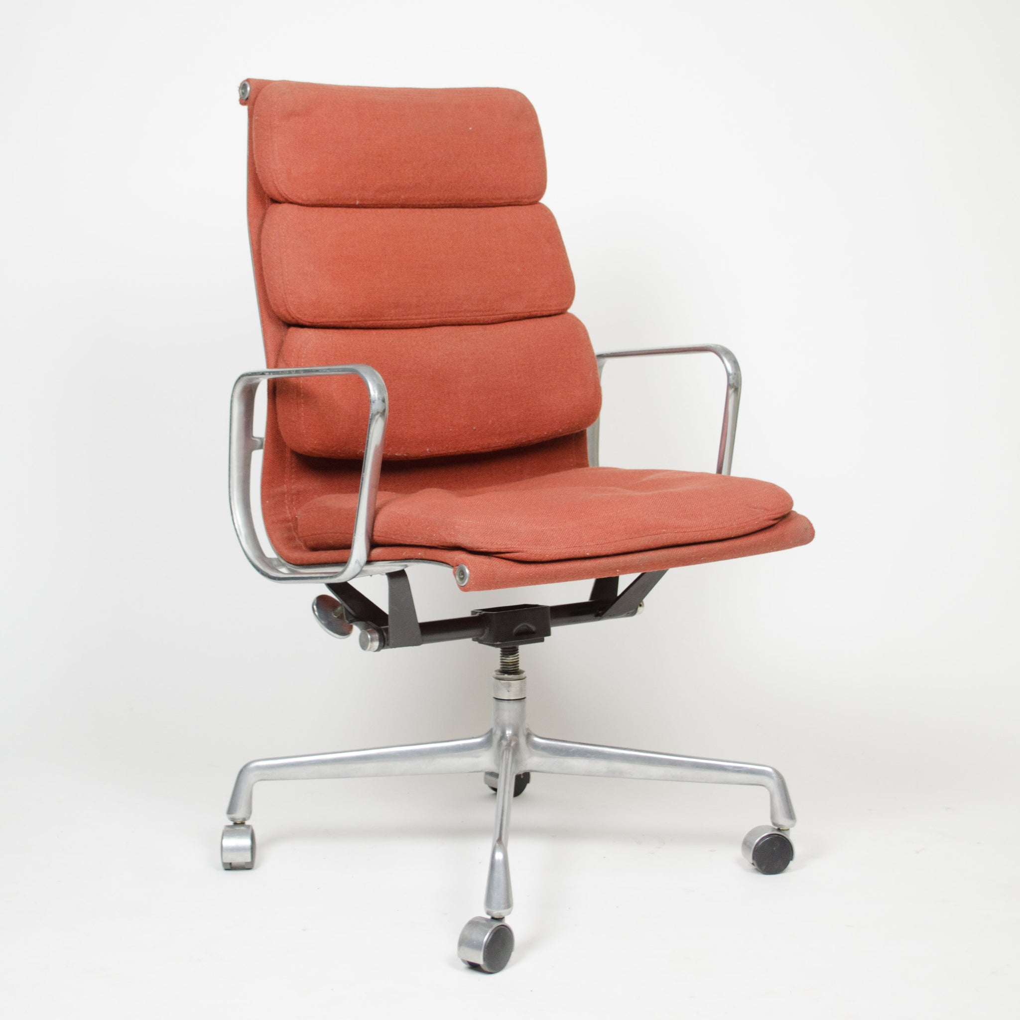 SOLD Fabric Eames Herman Miller High Back Soft Pad Aluminum Chair 1981