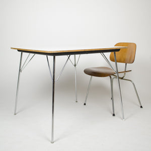 SOLD Eames Herman Miller Folding DTM 20 Square Dining Table Museum Quality
