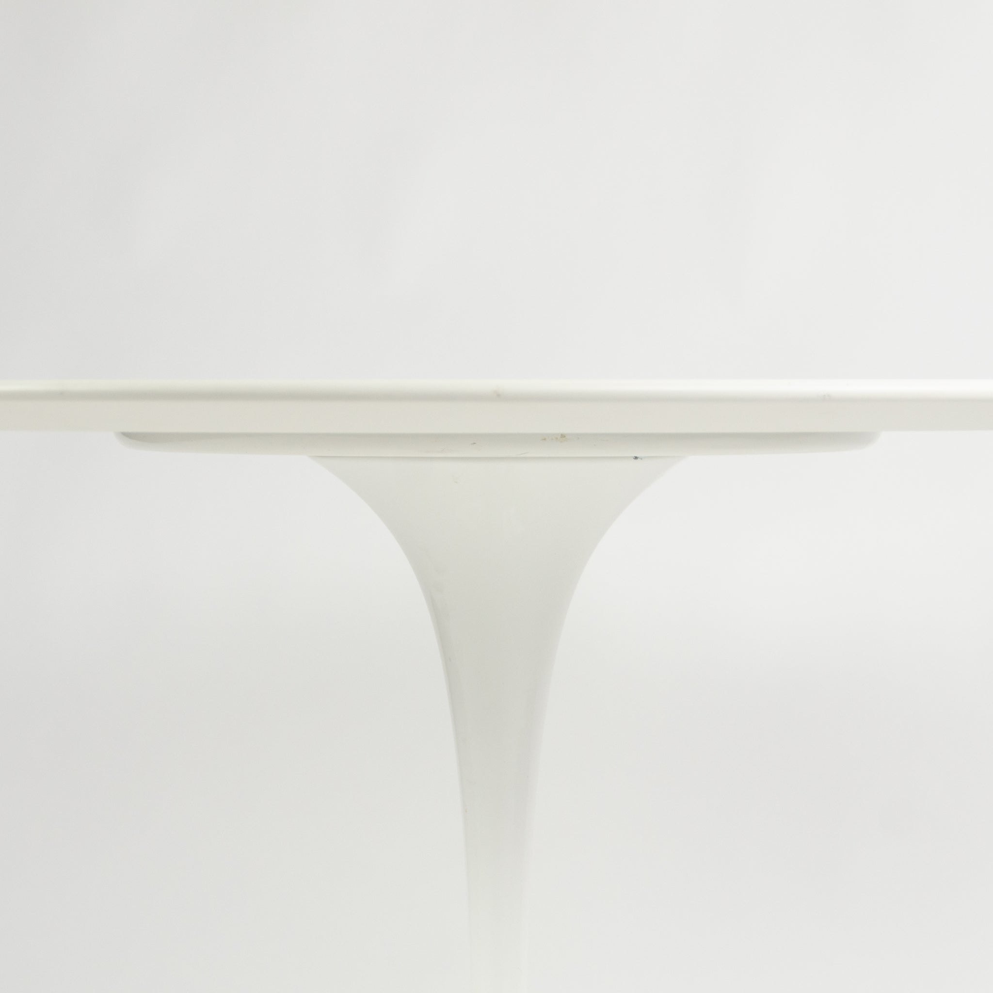 SOLD 2010's Eero Saarinen For Knoll 42 Inch Tulip Dining Table White Laminate