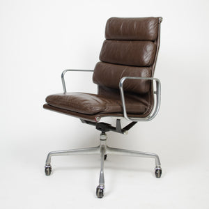 SOLD Vintage Brown Eames Herman Miller High Back Soft Pad Aluminum Group Chair 1982