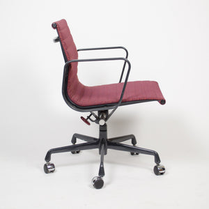 SOLD Red Eames Herman Miller Fabric Executive Aluminum Group Desk Chair