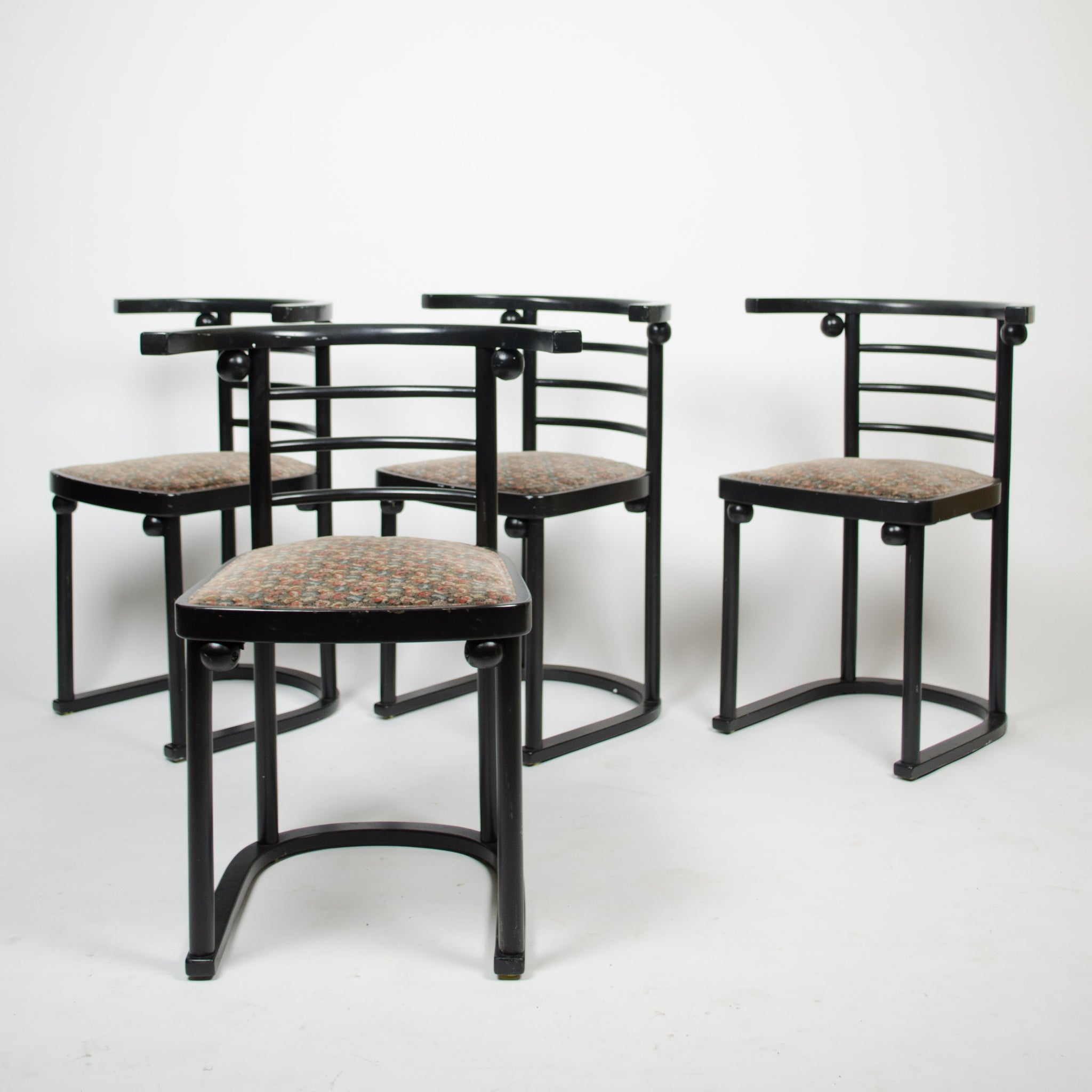SOLD Josef Hoffman Kohn Die Fledermaus Dining Chairs Set of Four No. 728 Art Deco